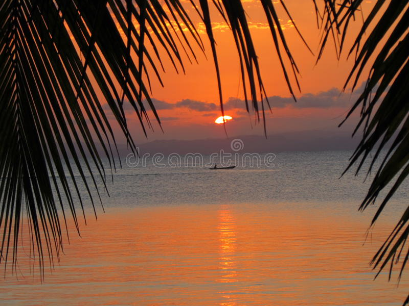 St Marie de Ile de la puesta del sol foto de archivo libre de regalías