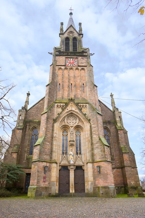 St Marien Church en Dudweiler foto de archivo libre de regalías