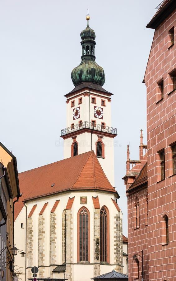 St. Marien parish church in Sulzbach-Rosenberg Bavaria Germany stock photography