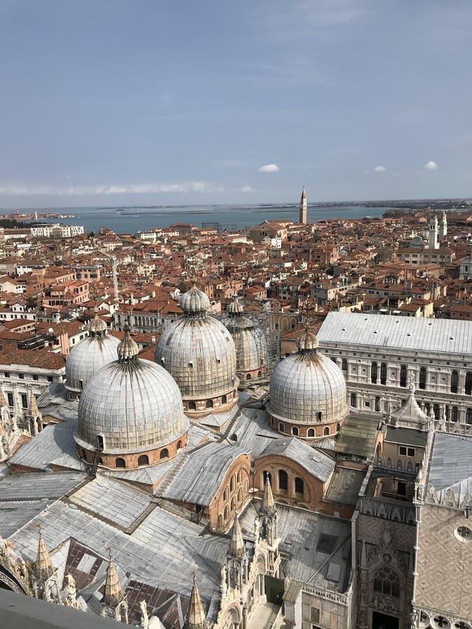 St Mark's Campanile, Piazza San Marco, Venetië, Italië stock fotografie