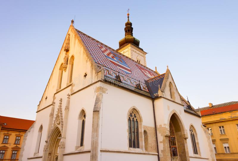 St Mark Church Zagreb, Kroatië royalty-vrije stock foto's