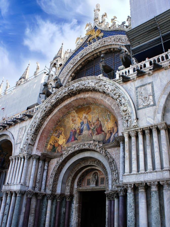 St Mark domkyrka, Venedig, Italien arkivfoton