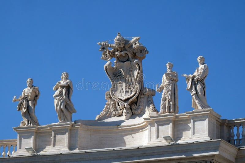 St Mark Evangelist, Mary van Egypte, Alexander VII-Wapenschild, Ephraim en Theodosia van Band royalty-vrije stock foto's