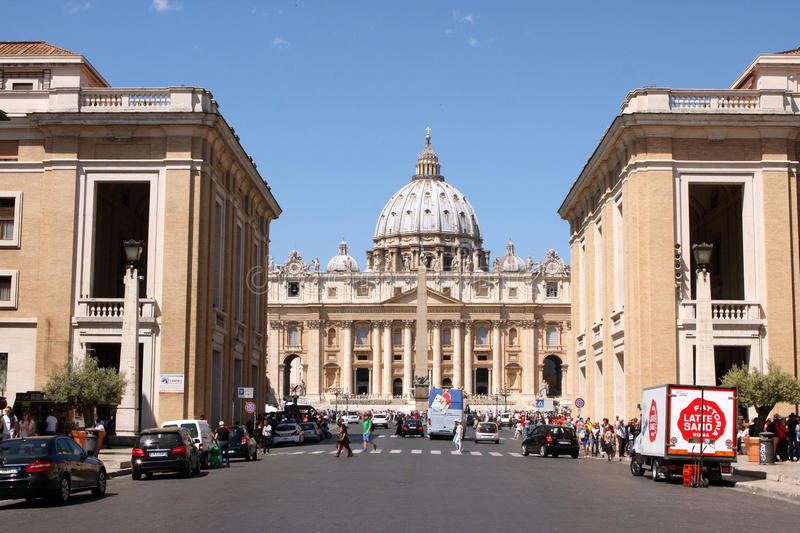 St Mark Place Vatican Rome Italy stock foto