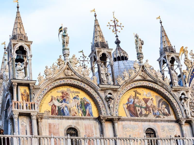 St. Mark's Basilica (Basilica di San Marco) in Venice. Fragment royalty free stock photos