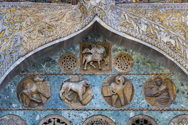 St- Mark` s Basilika in Venedig stockbilder