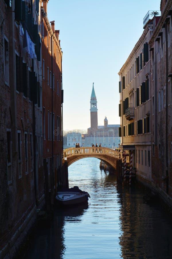 St. Mark`s basin, in Venice, Italy royalty free stock photography