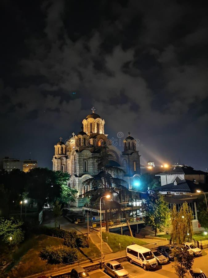 St Mark & x27; s-kyrka i Belgrade arkivfoto