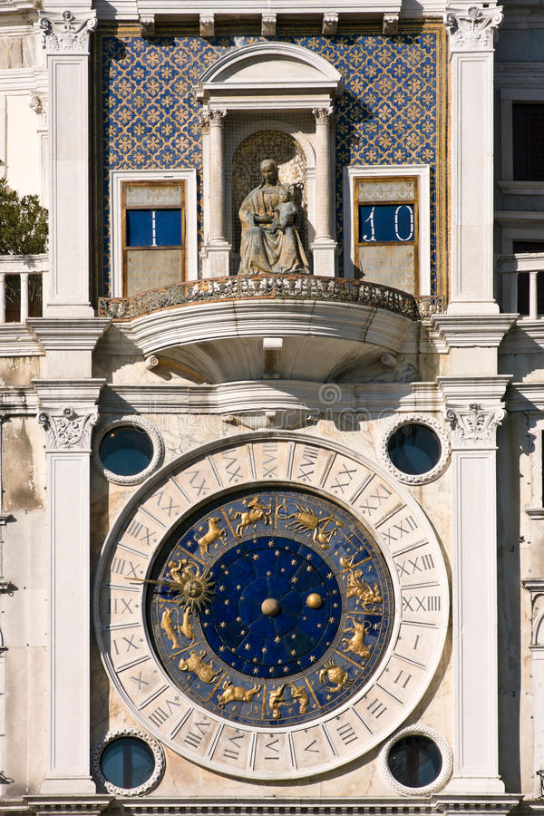 St. Mark S Square Clock Tower In Venice Stock Images