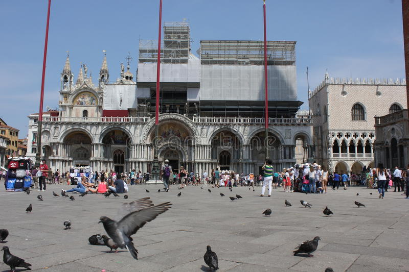 St.Mark's Square and its Basilica royalty free stock image