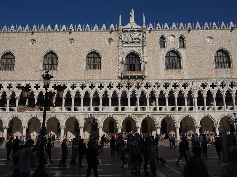 St Mark square in Venice. VENICE, ITALY - CIRCA SEPTEMBER 2016: Piazza San Marco (meaning St Mark square stock photos
