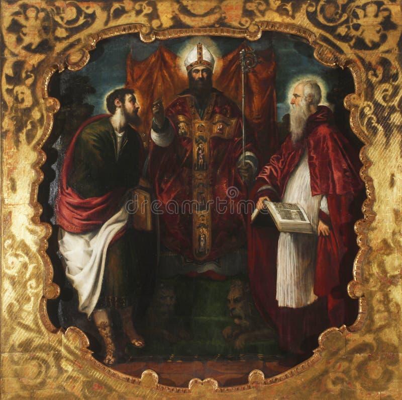 St Mark, St Jerome och St Barthelemy arkivbilder