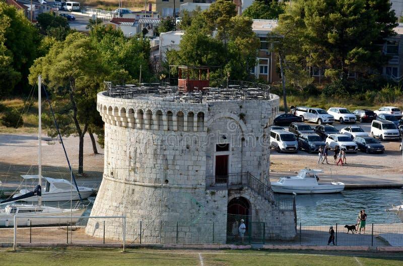 St. Mark Tower, Trogir stock photography