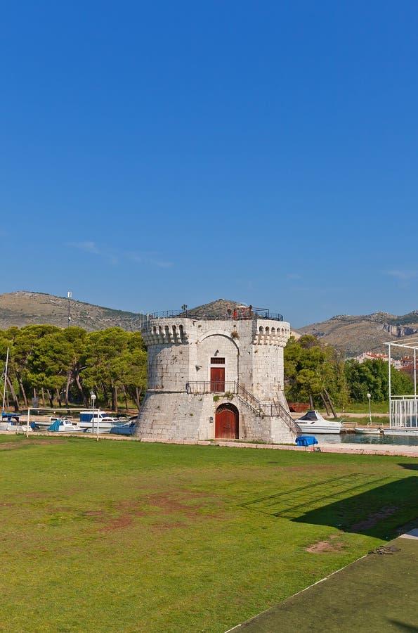 St Mark tower (XV c.). Trogir, Croatia. UNESCO site stock images