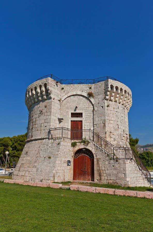 St Mark tower (XV c.). Trogir, Croatia. UNESCO site royalty free stock photography