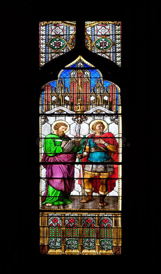 St Mark y santo Demetrius fotografía de archivo libre de regalías