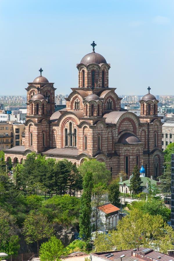 St. Marko Church in Belgrade. View of a church of St. Marko (Marco) located in Tasmajdan park in Belgrade, Serbia royalty free stock image