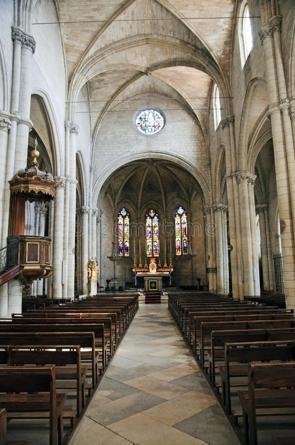 St Martha's Collegiate Church, Tarascon stock photography