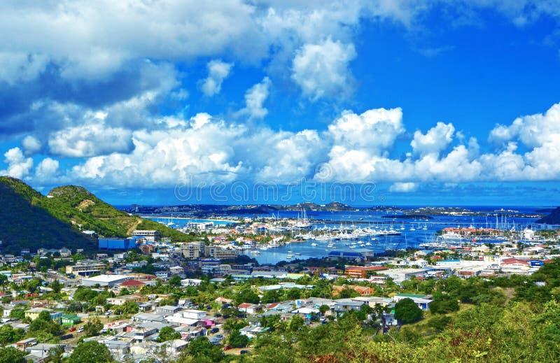 St Martin ö, karibiskt hav fotografering för bildbyråer