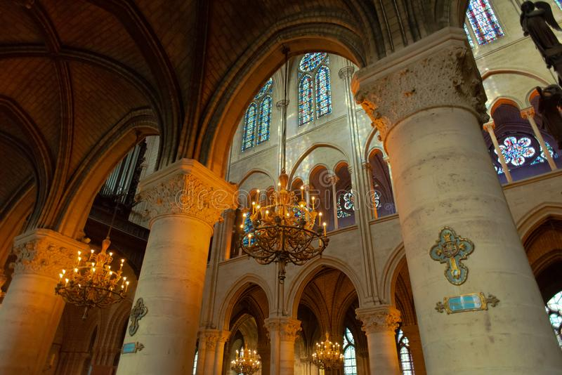 Cathedral Interior Paris stock photography