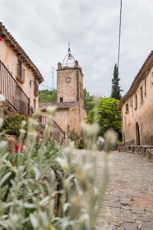 St. Martin church in Mura. Photograph of St. Martin church in Mura, Barcelona, Spain stock image