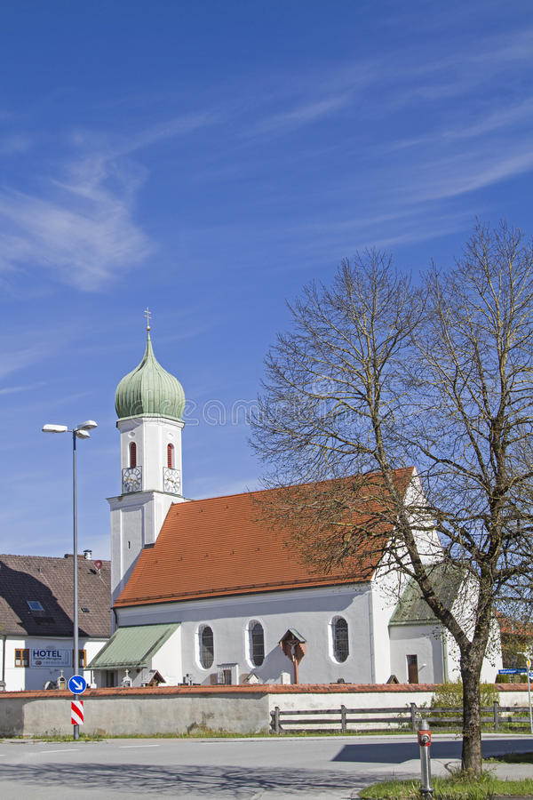 St. Martin in Egling stock image