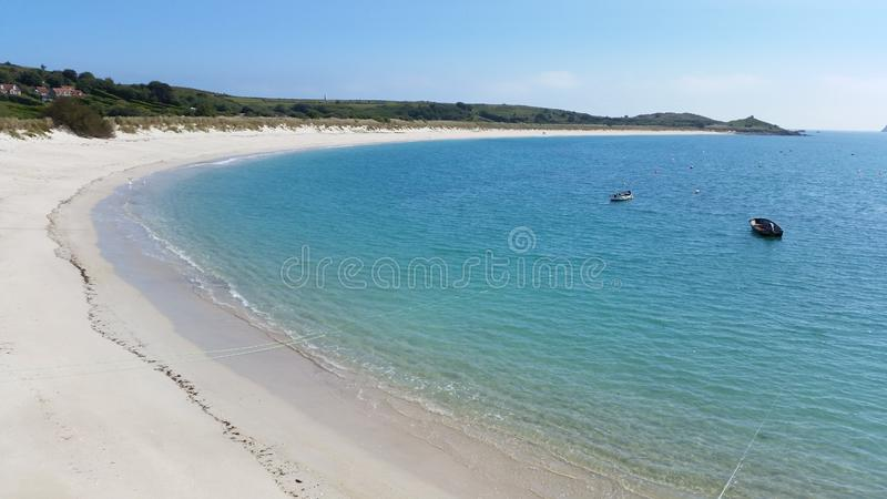 St Martin et x27 ; plage de s, îles de Scilly, les Cornouailles photos stock