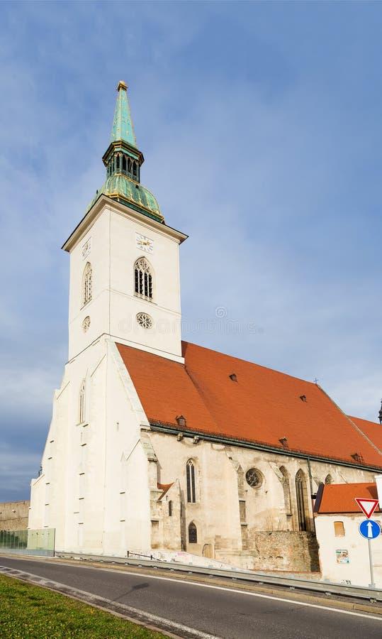 St. Martin Kathedraal, Bratislava, Slowakije stock afbeeldingen