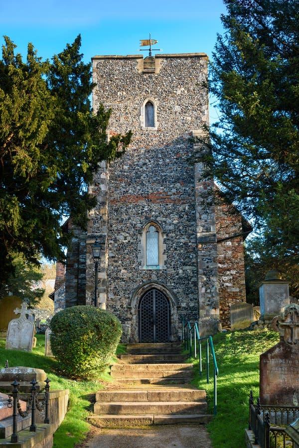 St Martin kościół w Canterbury pierwszy kościół zakładał w En zdjęcie stock
