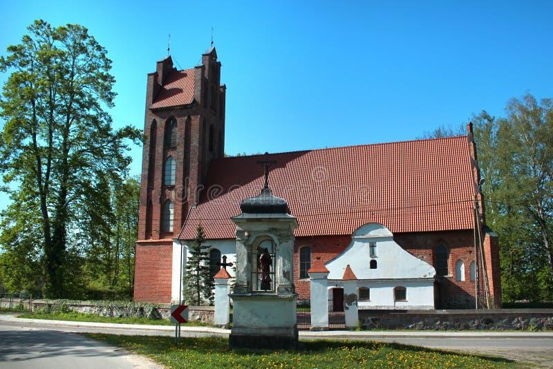 St Martin kościół w Tolkowiec, Warmian-Masurian Voivodeship, Polska obraz royalty free