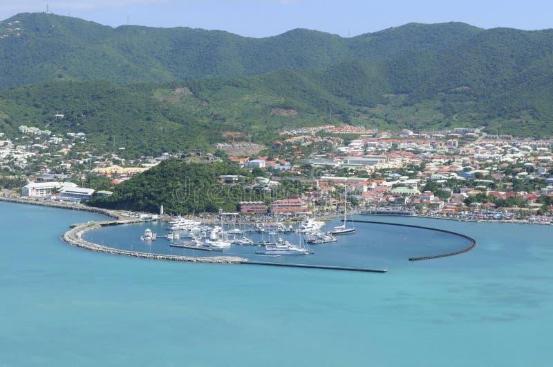 St Martin - Marigot - Port de Fort Louis lizenzfreies stockbild