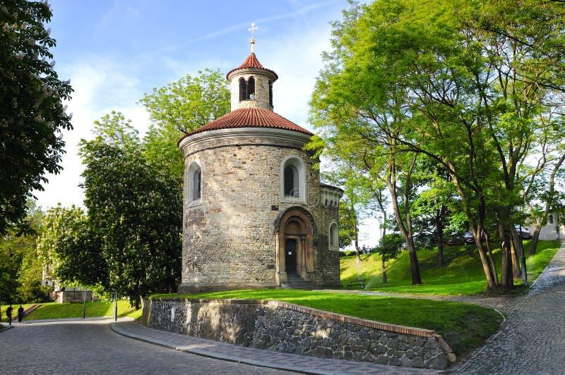 St. Martin Rotunda in Vysehrad stock afbeelding