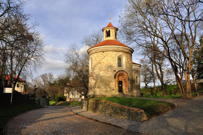 St Martin Rotunda in Vysehrad royalty-vrije stock foto