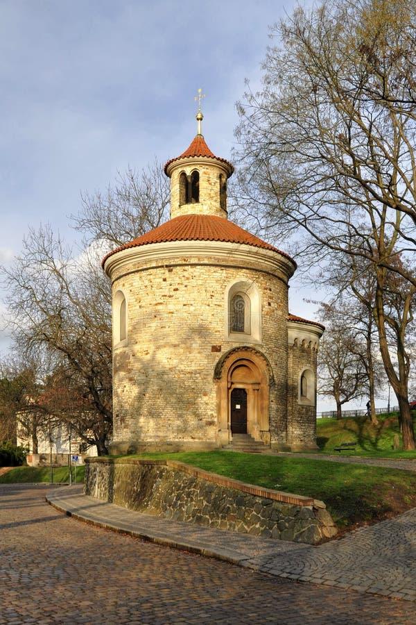 St Martin Rotunda in Vysehrad stock afbeeldingen
