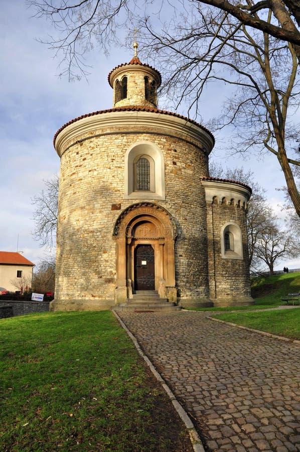 St Martin Rotunda in Vysehrad royalty-vrije stock foto's