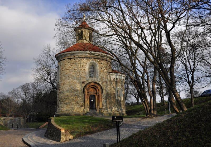 St Martin Rotunda in Vysehrad stock fotografie