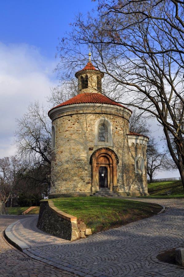 St Martin Rotunda in Vysehrad stock afbeelding