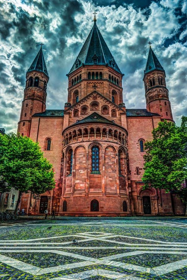 ST Martin ` s στο Μάιντς Γερμανία στοκ εικόνες