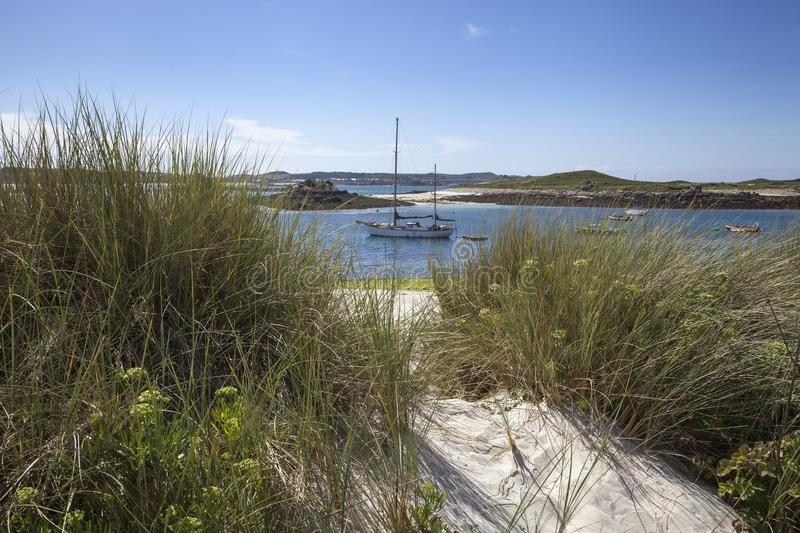 St Martin's Flats, Isles of Scilly, England.  royalty free stock images
