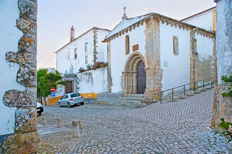 St- Martin` s Kapelle in Obidos lizenzfreie stockfotografie