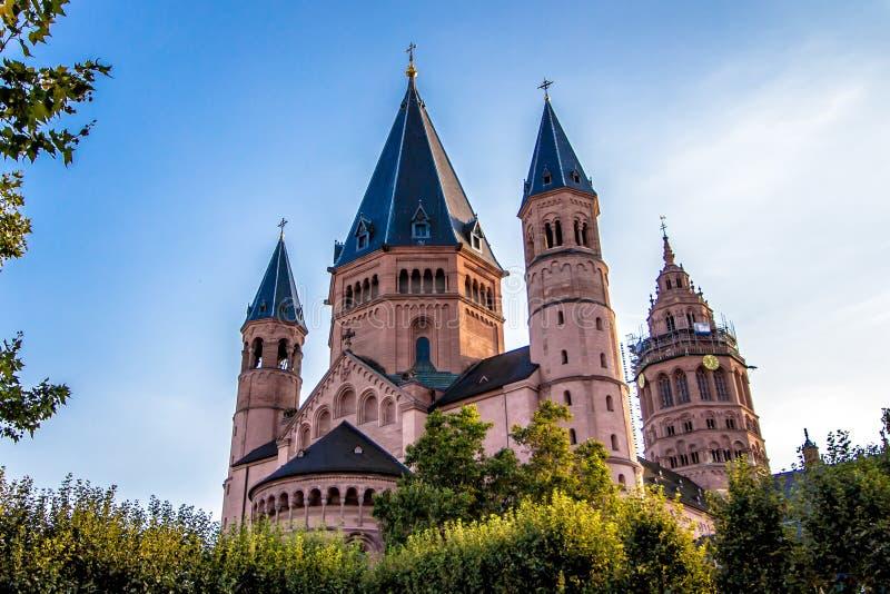 St Martin& x27; s katedra w Mainz, Niemcy zdjęcie stock