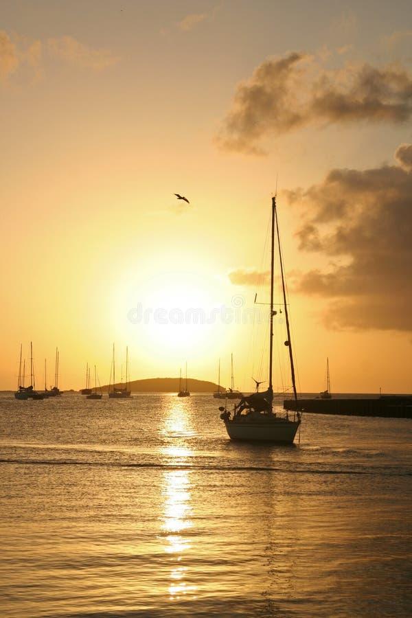 St. Martin Sunset stock photos