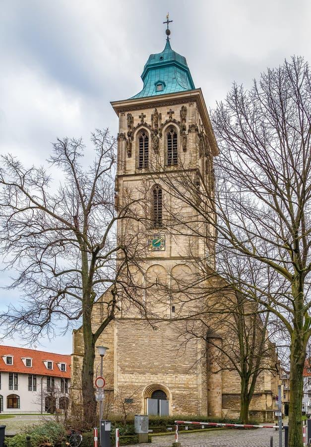 St. Martini church, Munster, Germany royalty free stock photo