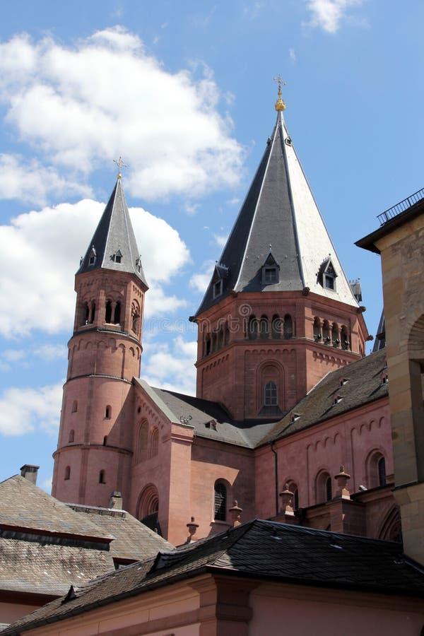 St Martins Cathedral a Mainz fotografia stock libera da diritti