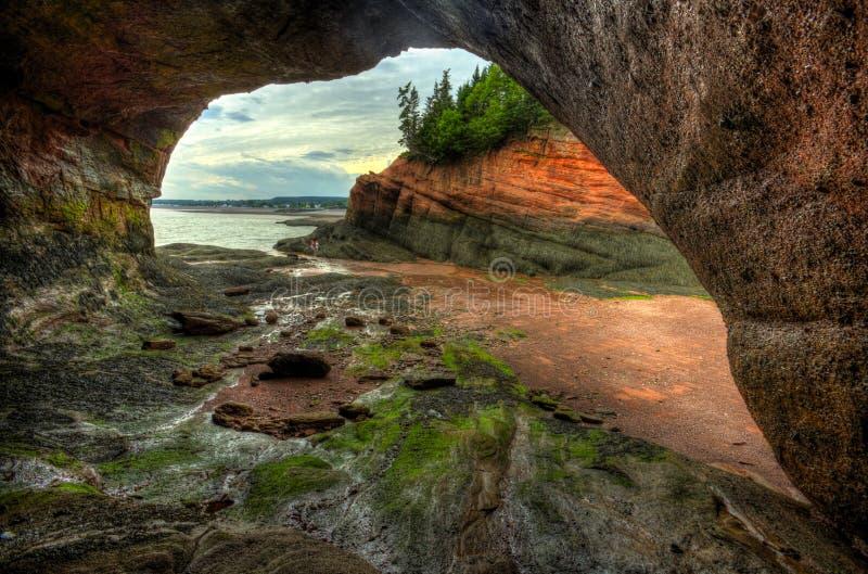 St Martins Caves Inside Outside de HDR fotos de stock