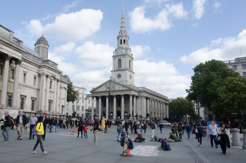 St Martins en el campo Trafalgar Square fotografía de archivo