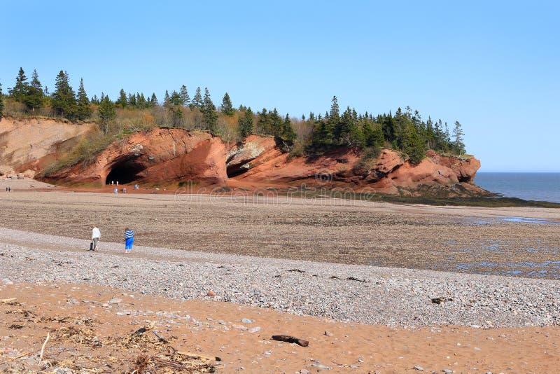 St Martins strand en hol, eb royalty-vrije stock afbeelding
