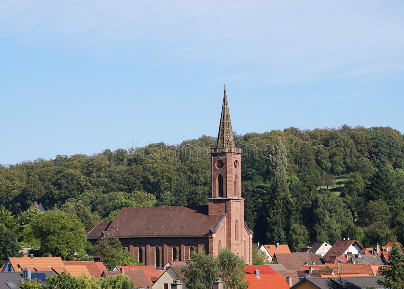 St.-martinskirche im obergrombach stockbild