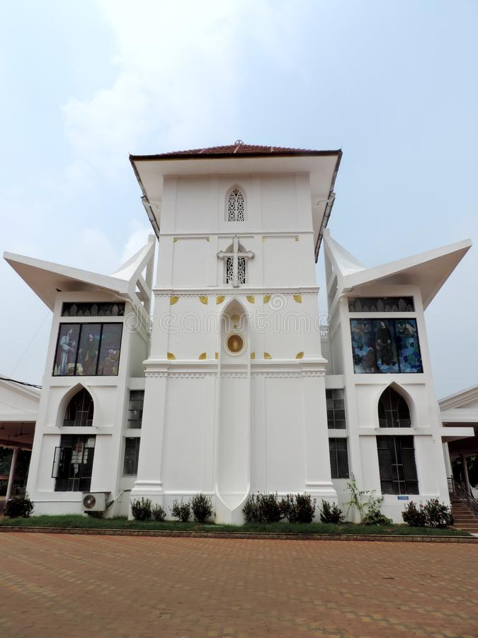 Church in Kerala, India. St. Mary's Jacobite Syrian Cathedral, also known as Manarcad Marth Maryam Cathedral, is a Syrian Orthodox church located near royalty free stock photography