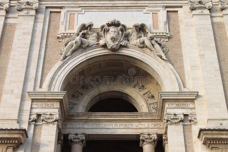 St Mary базилики ангелов в Assisi стоковые фото